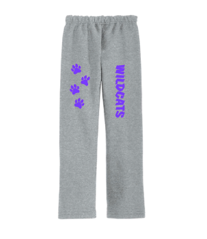 Adult Sweatpants (Grey) with Paw Prints