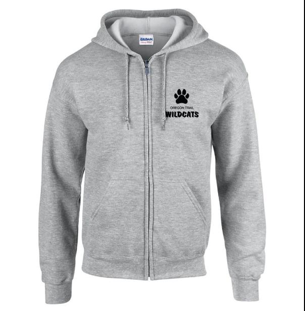 Adult Full-Zip Hoodie (Grey)