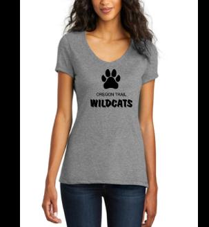 Ladies V-Neck T-Shirt (Grey)