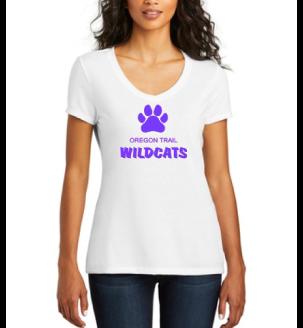 Ladies V-Neck T-Shirt (White)